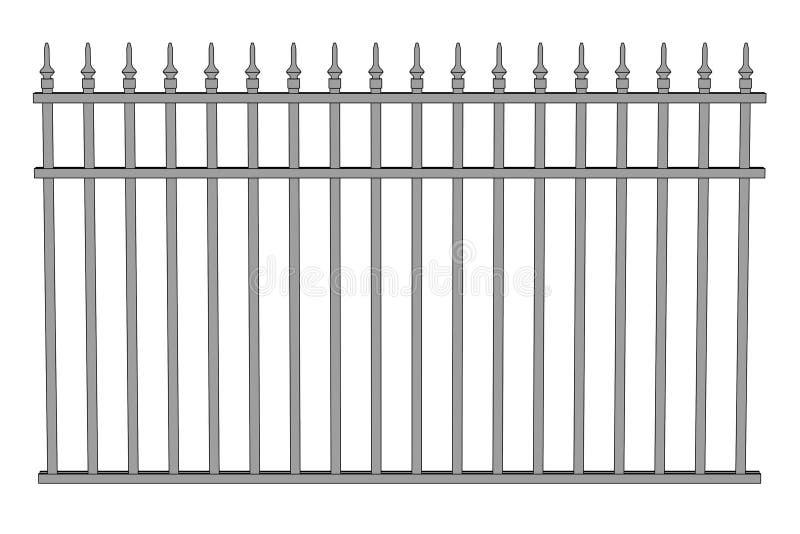 Illustration des Zauns (Geländer) stock abbildung