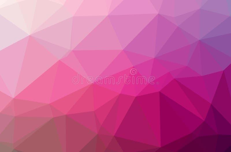 Illustration des Zusammenfassung Rosahorizontalen niedrigen Polyhintergrundes Schönes Polygonentwurfsmuster lizenzfreie abbildung