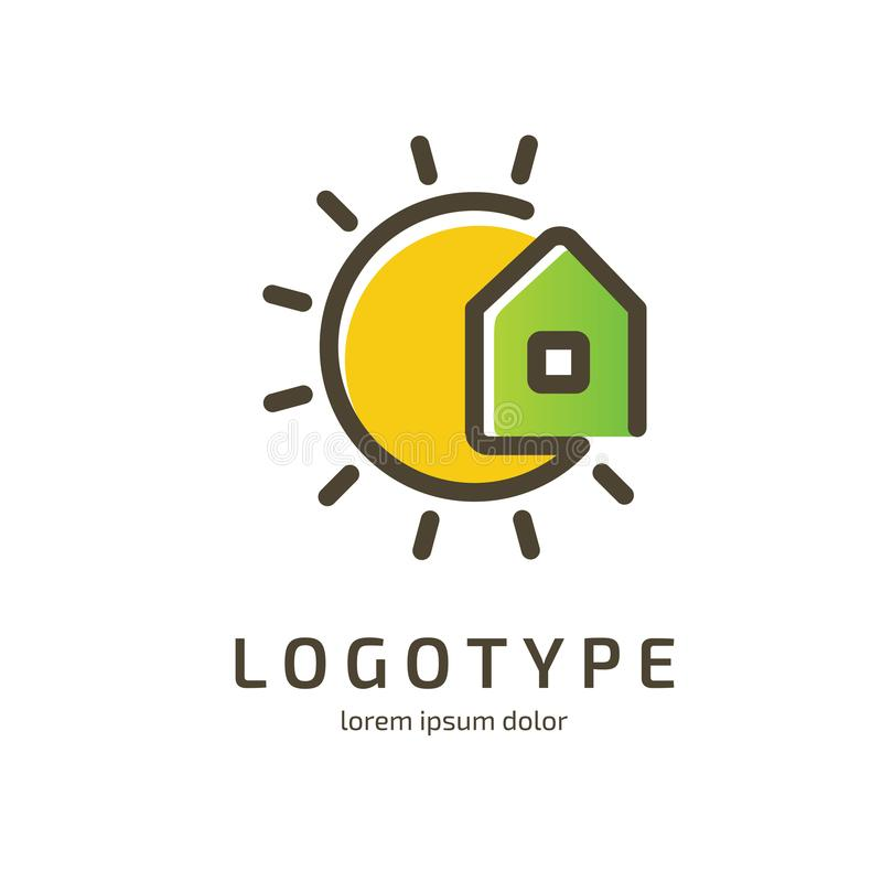 Logo design abstract house vector template royalty free stock image