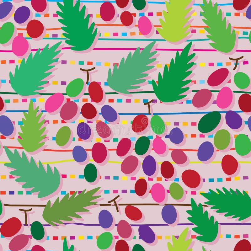 Grape style abstract seamless pattern stock illustration