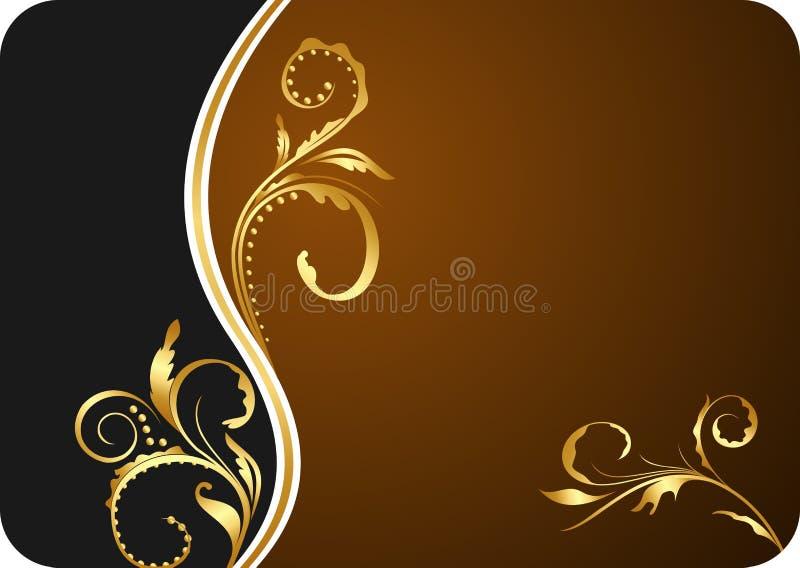 Illustration for design floral business card stock illustration