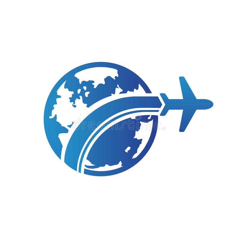 Logo design abstract planet travel vector template. stock image