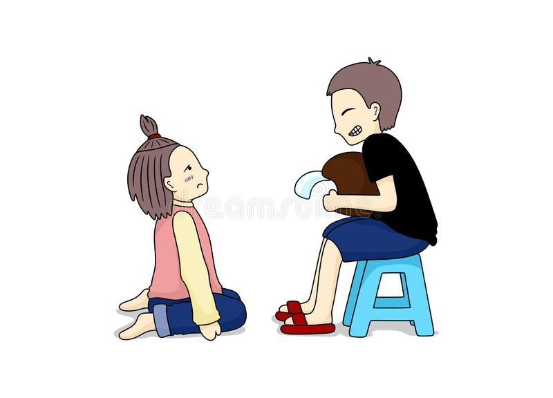 Illustration Design of Mischievous Boy. Simple illustration, simple design of cute couple. Mischievous Boy, vector image by Piripiter vector illustration