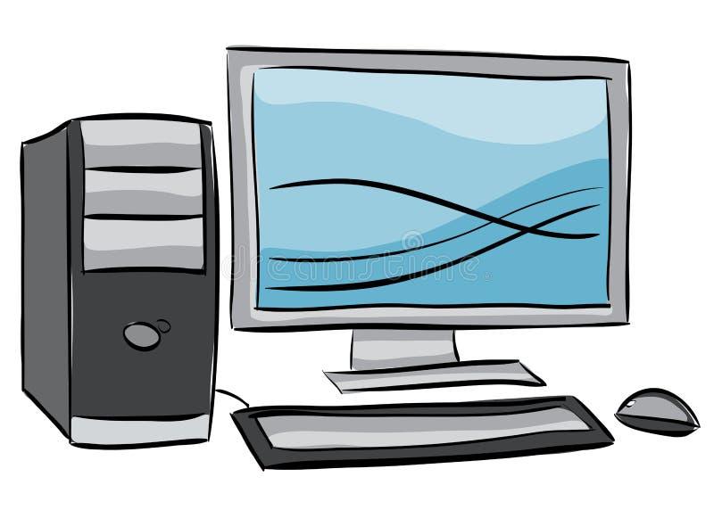 Illustration Of Desktop Computer Royalty Free Stock Photos