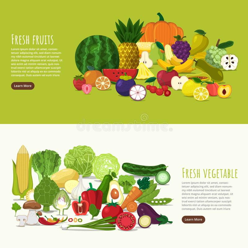Healthy Food vector illustration