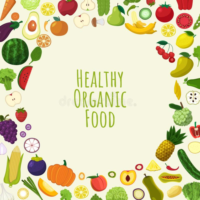 Healthy organic food stock illustration