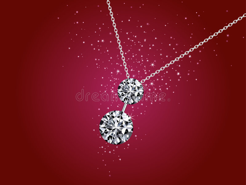 Illustration of diamond necklace royalty free stock photography