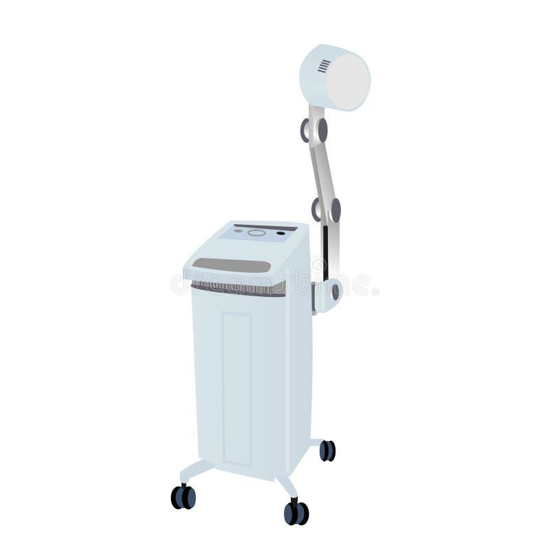 Illustration of Diathermy. Machine / equipment stock illustration