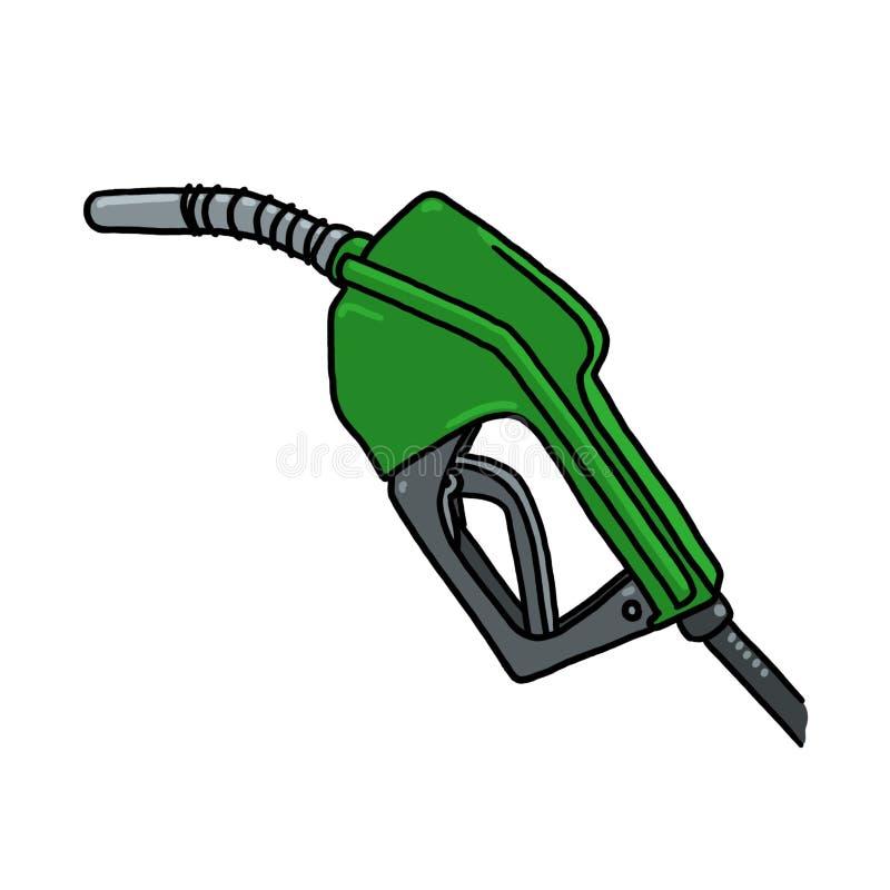 Illustration diesel de bec de pompe à gaz illustration libre de droits