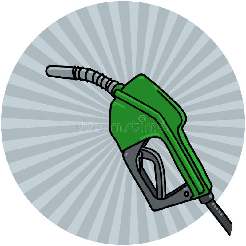 Illustration diesel de gicleur de pompe illustration stock