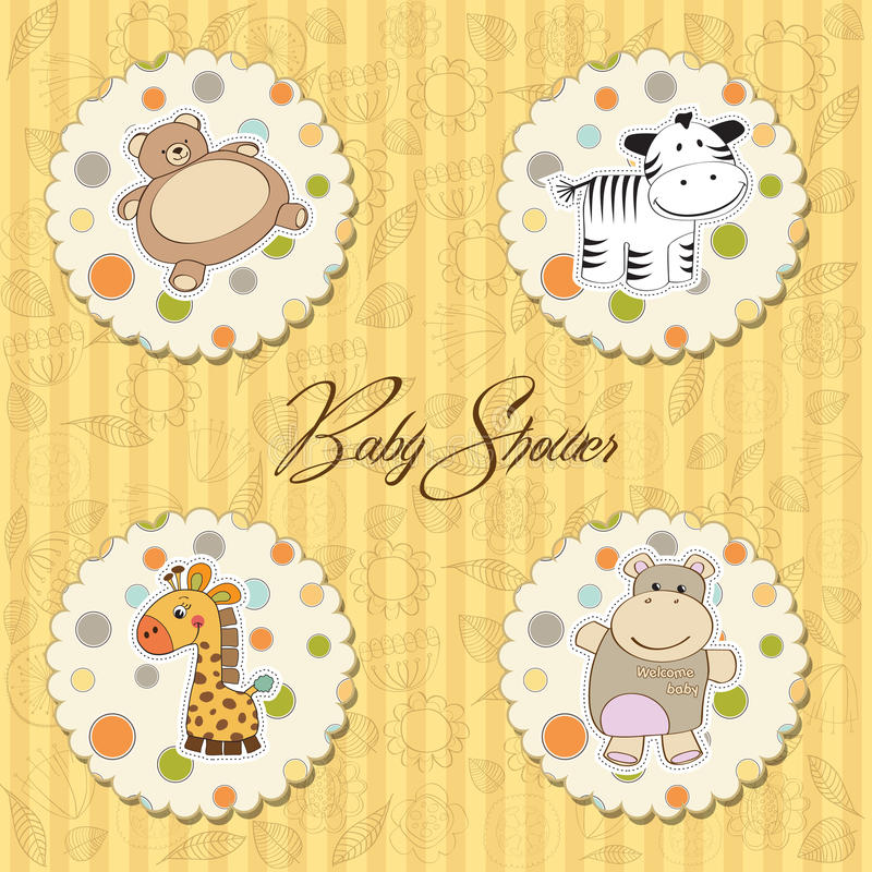 Illustration Of Different Toys Items For Baby Royalty Free Stock Photo