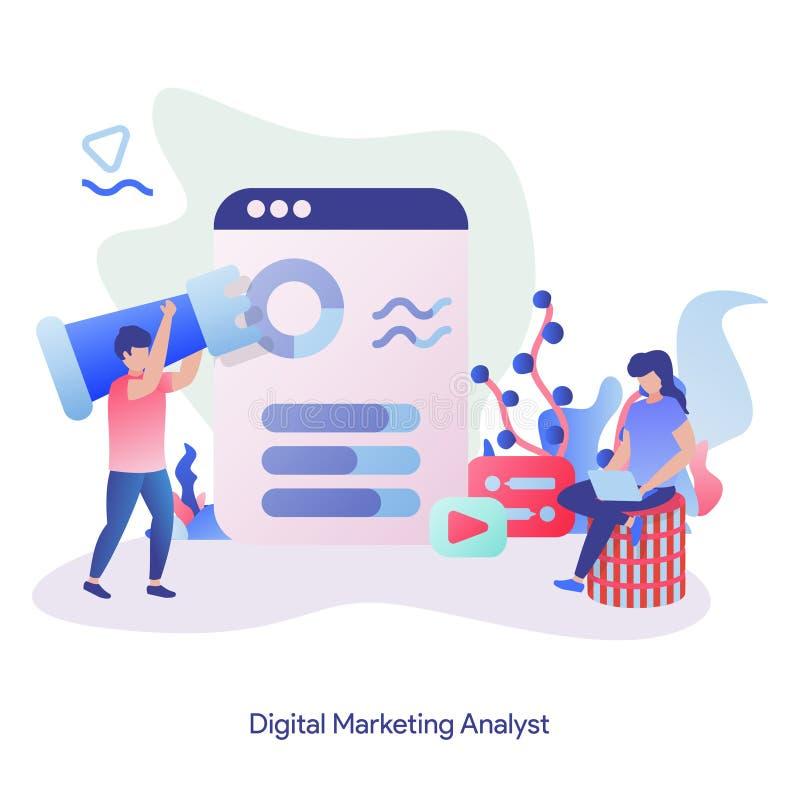Illustration Digital-Marktanalytiker vektor abbildung
