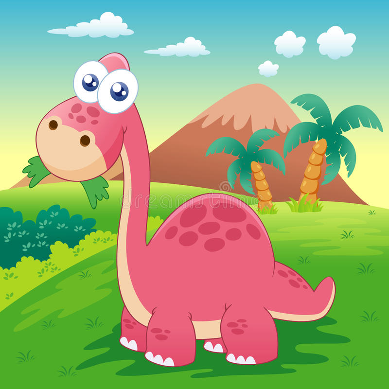 Illustration Of Dinosaur Stock Image
