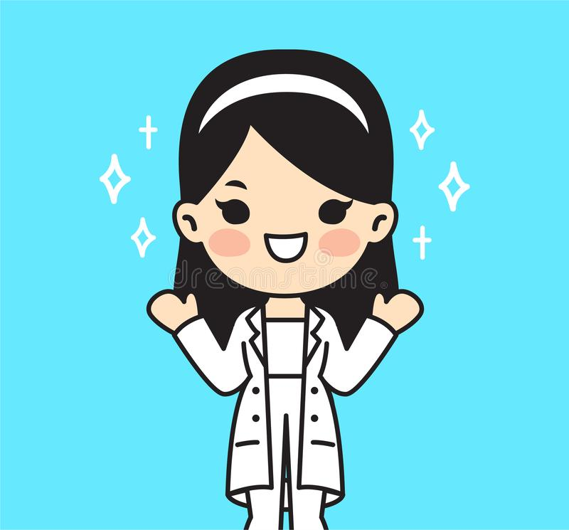 Illustration for doctor.Cute style vector illustration