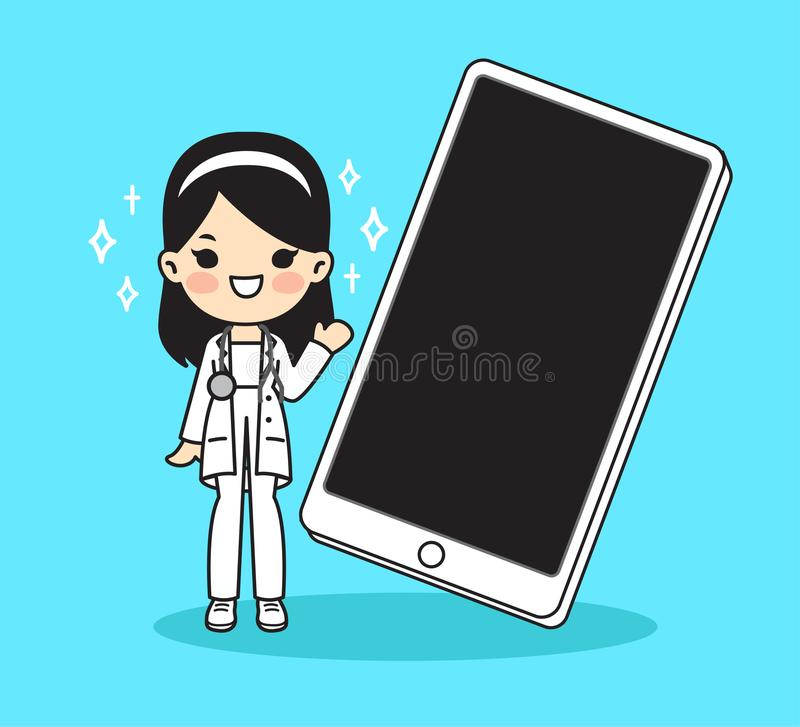 Illustration for doctor.Cute style royalty free illustration