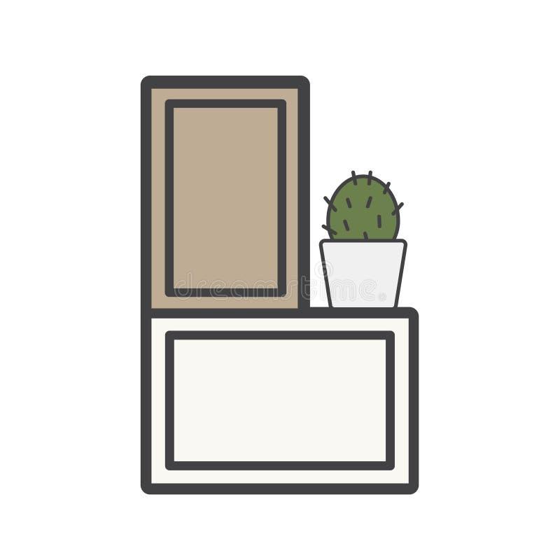 Illustration of document drawer. Isolated vector illustration
