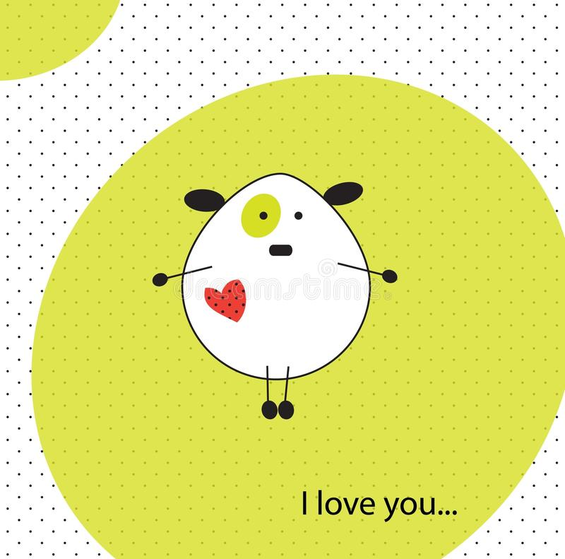Download Illustration Of Dog In Love Stock Vector - Image: 17180840