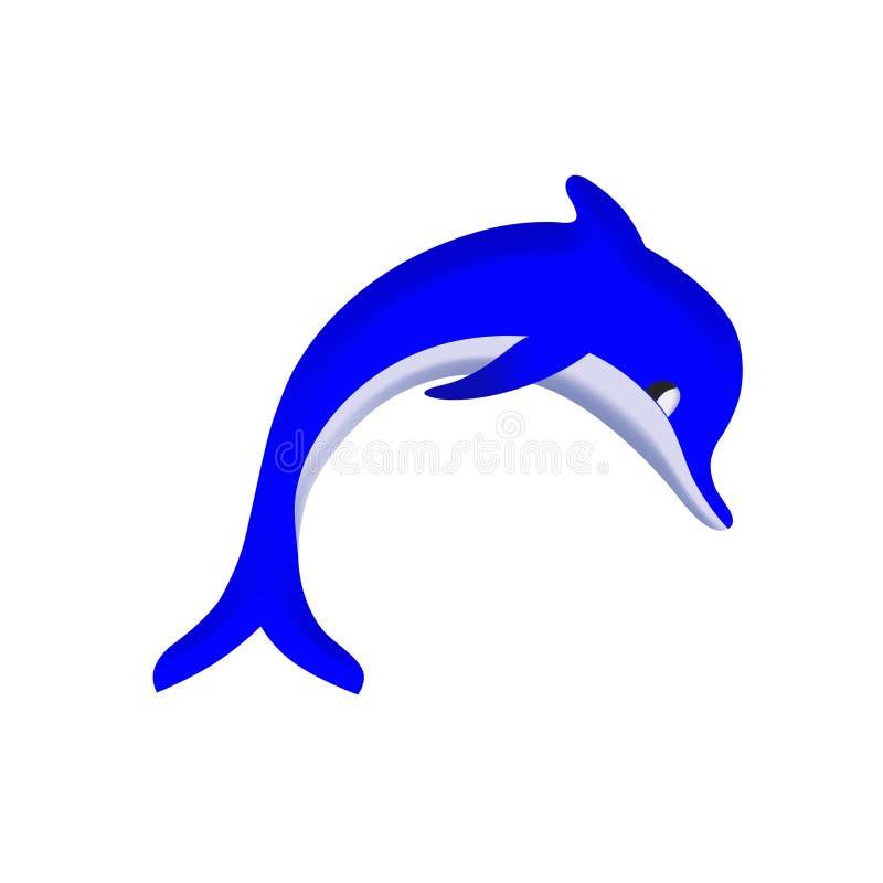 Illustration of dolphin stock photo