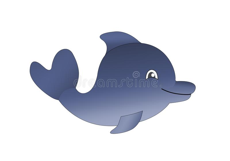Illustration of dolphin royalty free stock images
