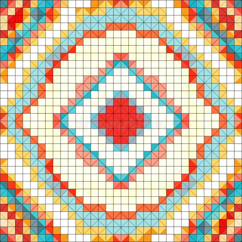 Illustration douce de vecteur de fond de couleur de pixel illustration stock