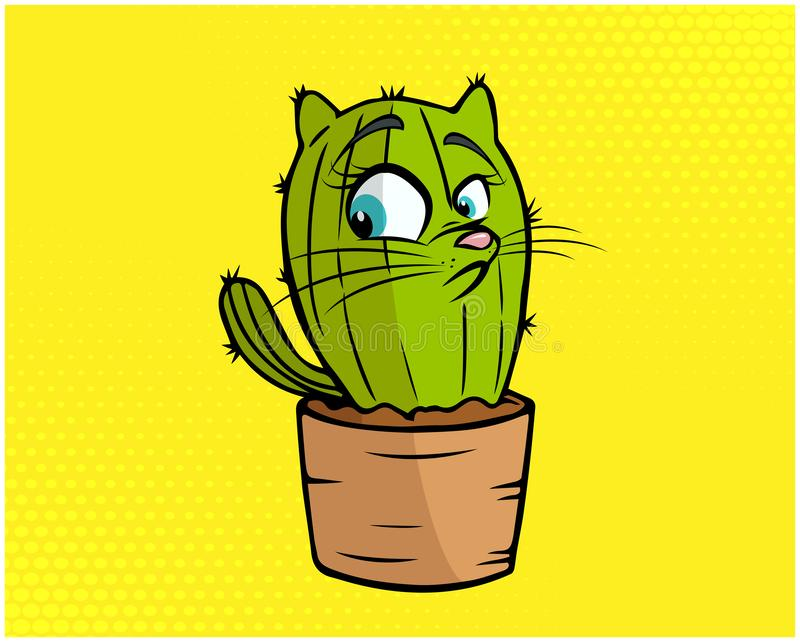 Illustration drôle 02 de chat photographie stock libre de droits