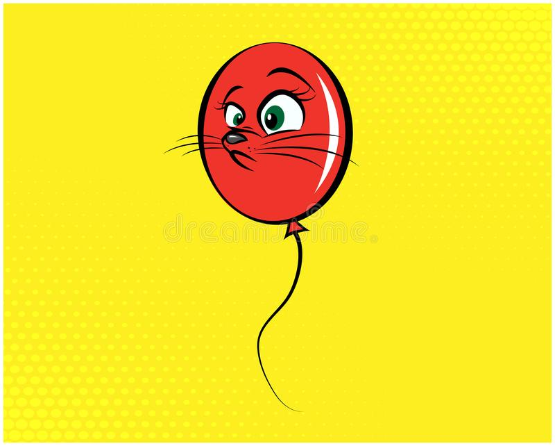 Illustration drôle 08 de chat photos stock