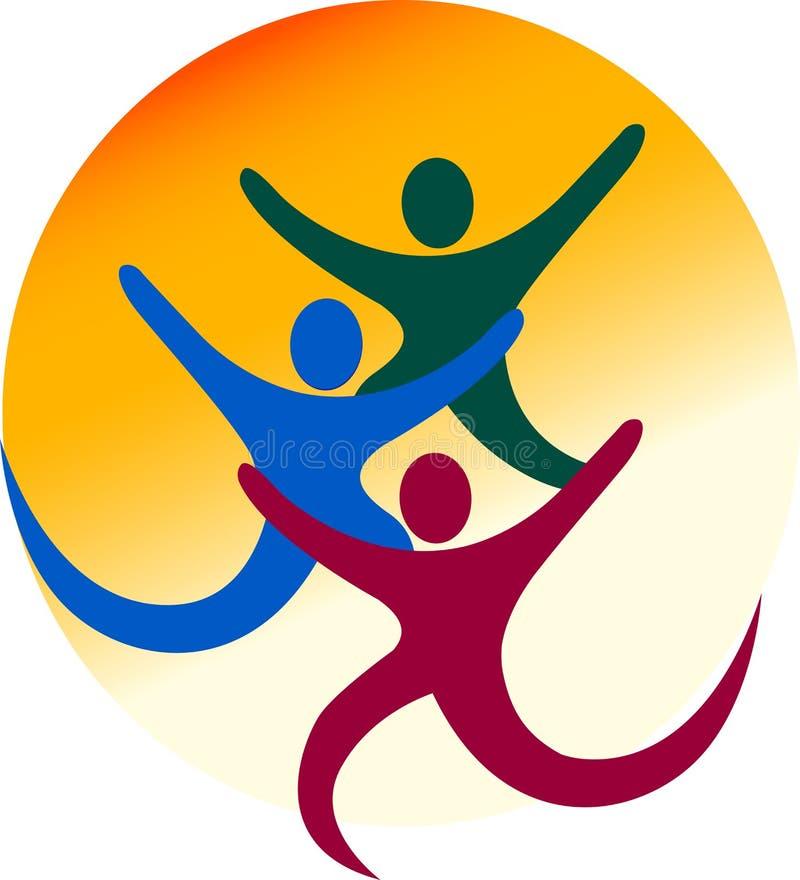 Couple logo royalty free illustration