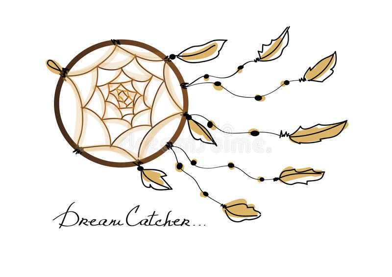 Illustration of dream catcher stock photos