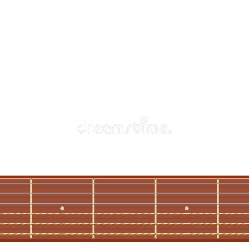 Illustration droite de fretboard de guitare illustration de vecteur