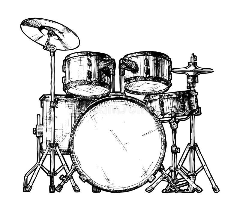 illustration of drum kit stock vector  illustration of