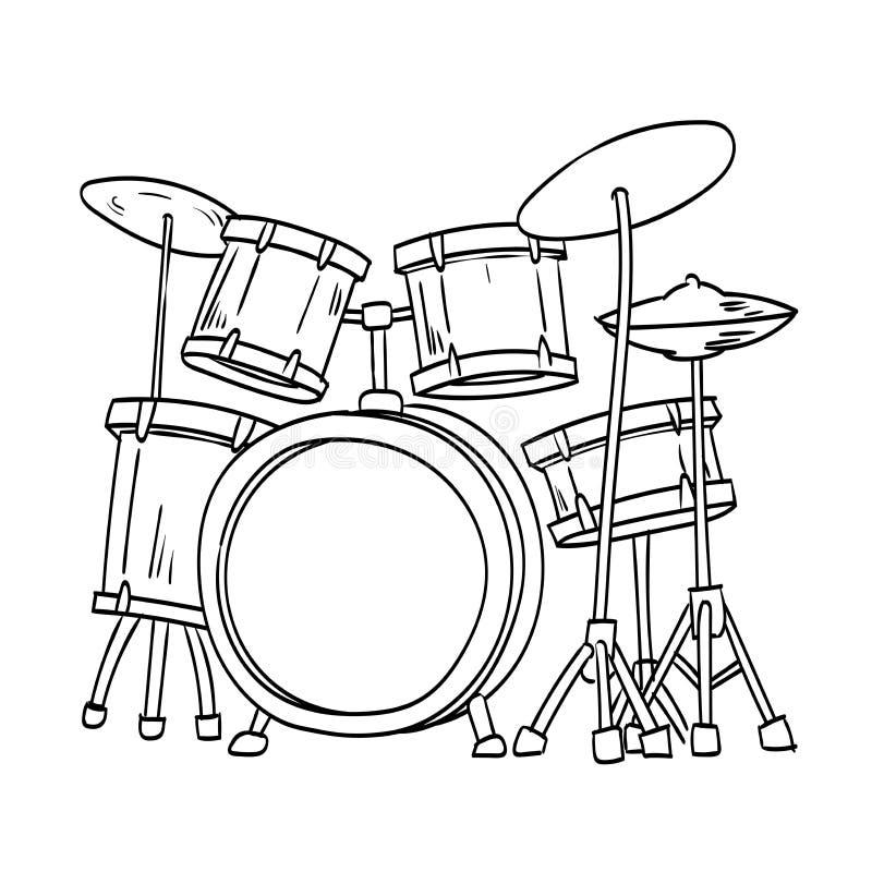 Illustration of Drum Vector Hand draw royalty free illustration