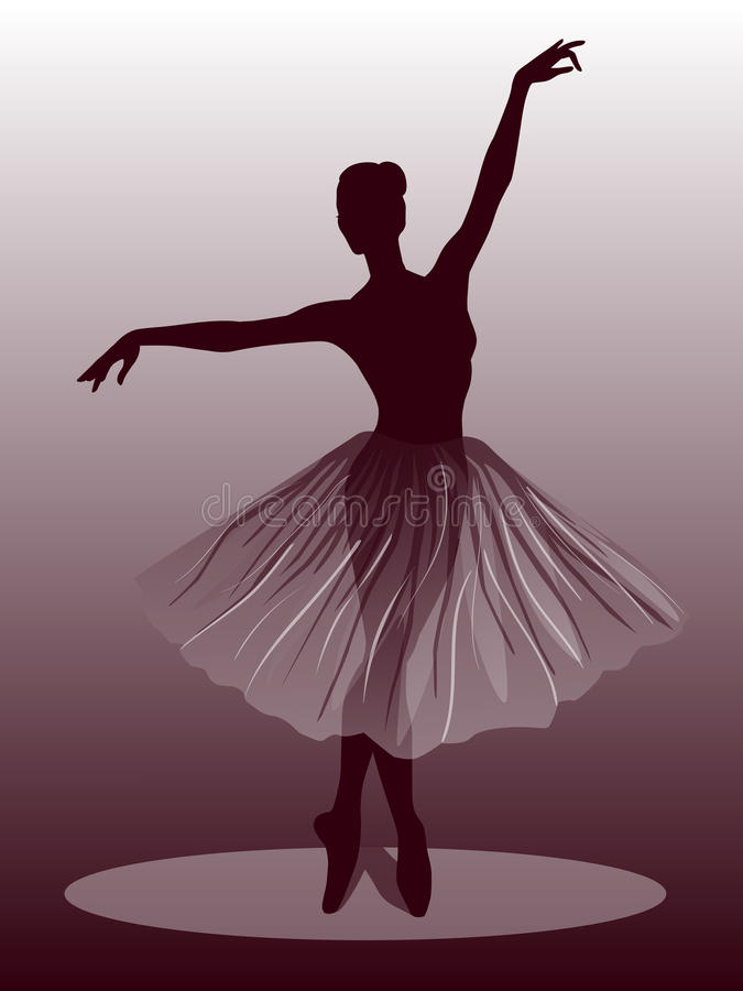 Illustration du ballet dancer illustration libre de droits