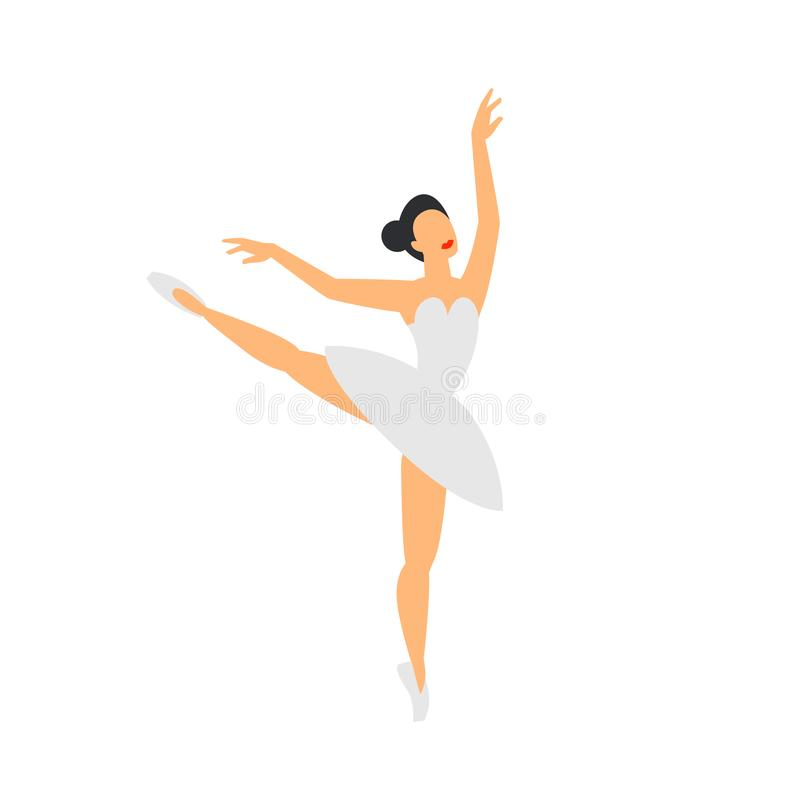 Illustration du ballet dancer Ballerine de danse sur un fond blanc Style plat illustration stock