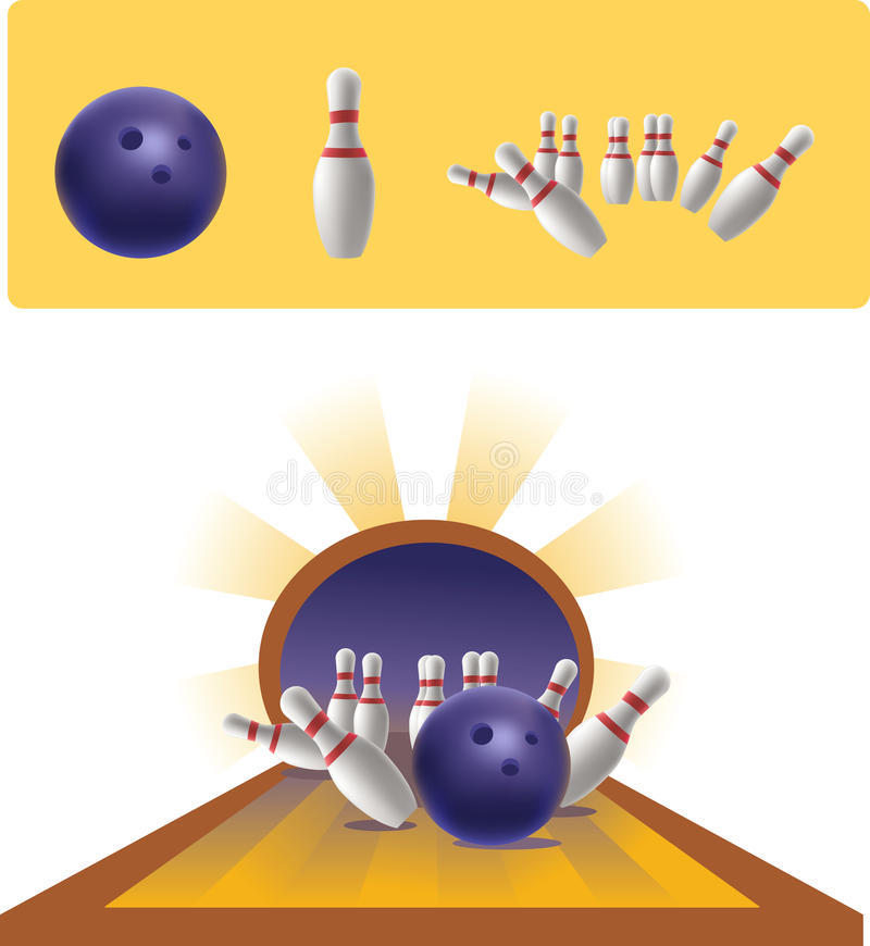 Illustration du bowling image libre de droits