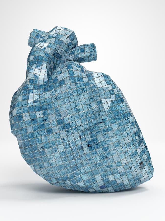 Illustration du coeur 3d de mosaïque photographie stock libre de droits