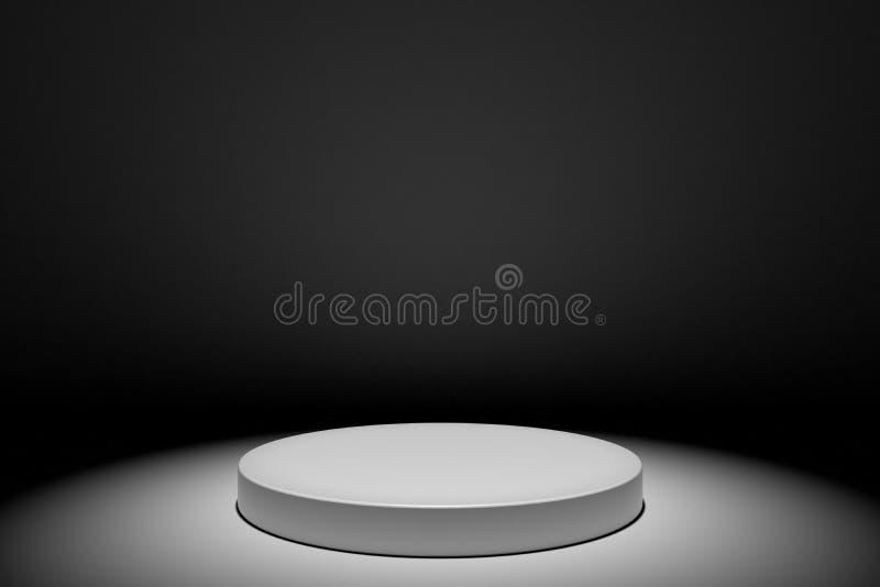 Illustration du concept de podium sur scène blanche ronde isolée sur fond blanc Scène de podium pour la cérémonie de remise des p illustration libre de droits