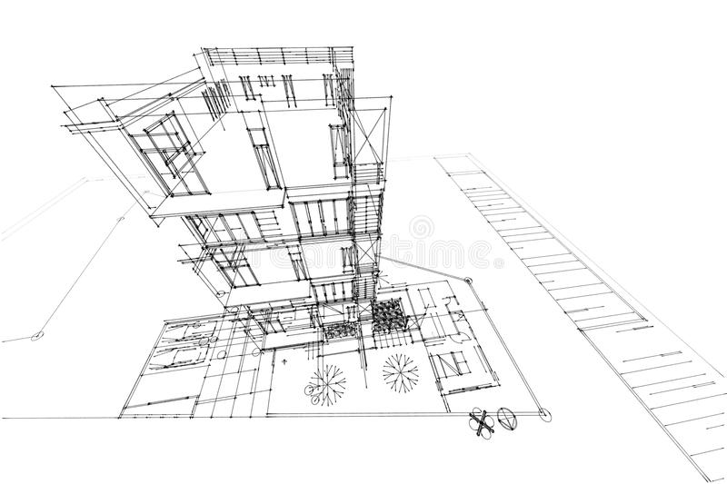 Download illustration du condominium 3d de dessin darchitecture illustration stock illustration du fléau