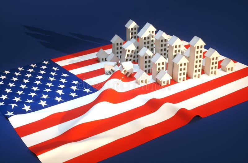 Illustration du développement immobilier des Etats-Unis illustration libre de droits