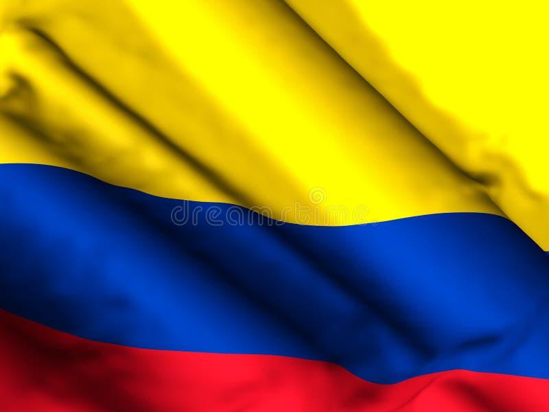 Illustration du fond 3d de drapeau de la Colombie illustration de vecteur