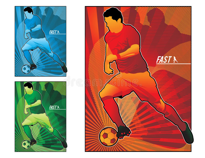 Illustration du football du football illustration libre de droits