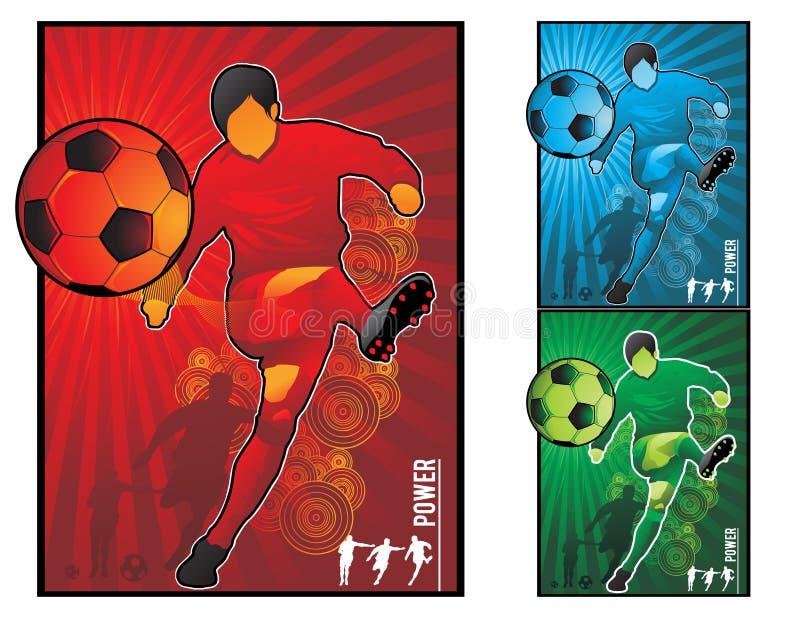 Illustration du football du football illustration de vecteur