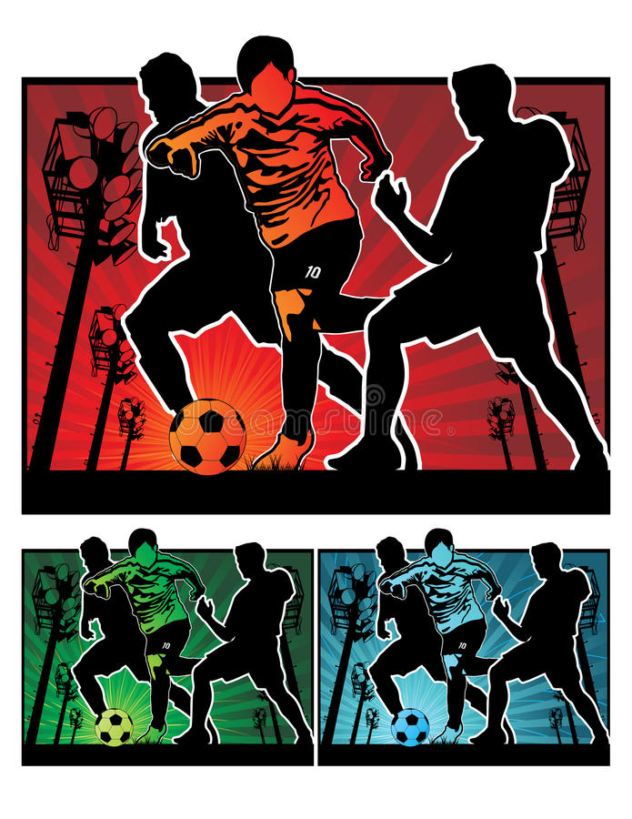 Illustration du football du football illustration stock