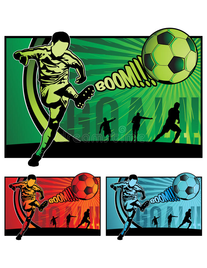 Illustration du football du football illustration libre de droits