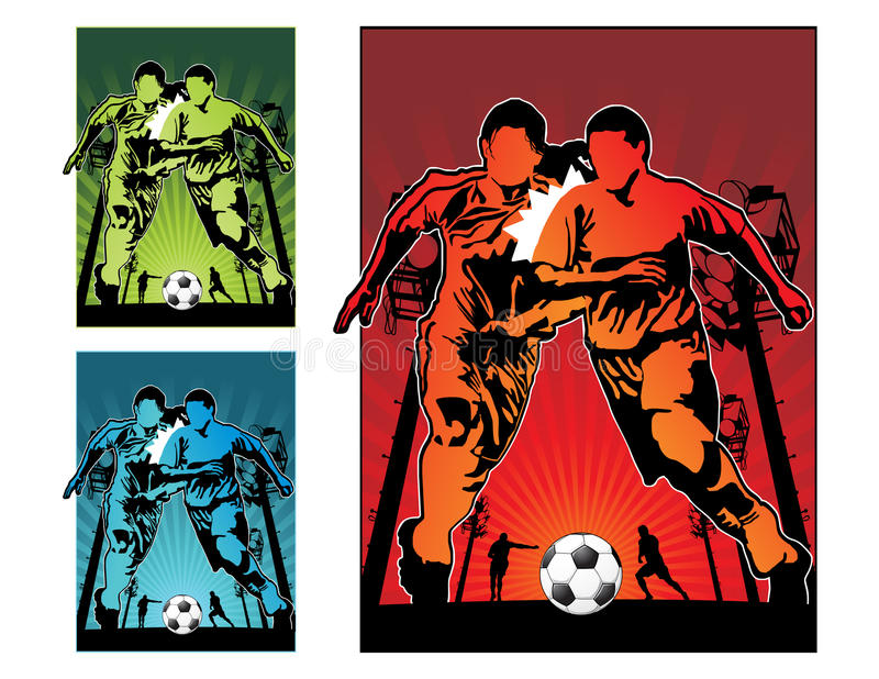 Illustration du football du football illustration de vecteur