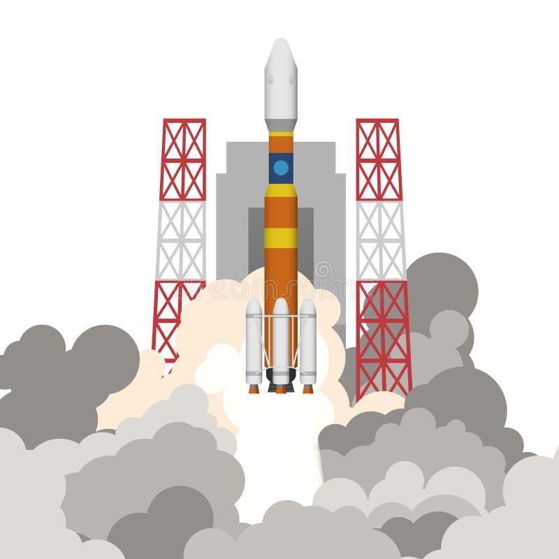 Illustration du lancement de fusée illustration libre de droits