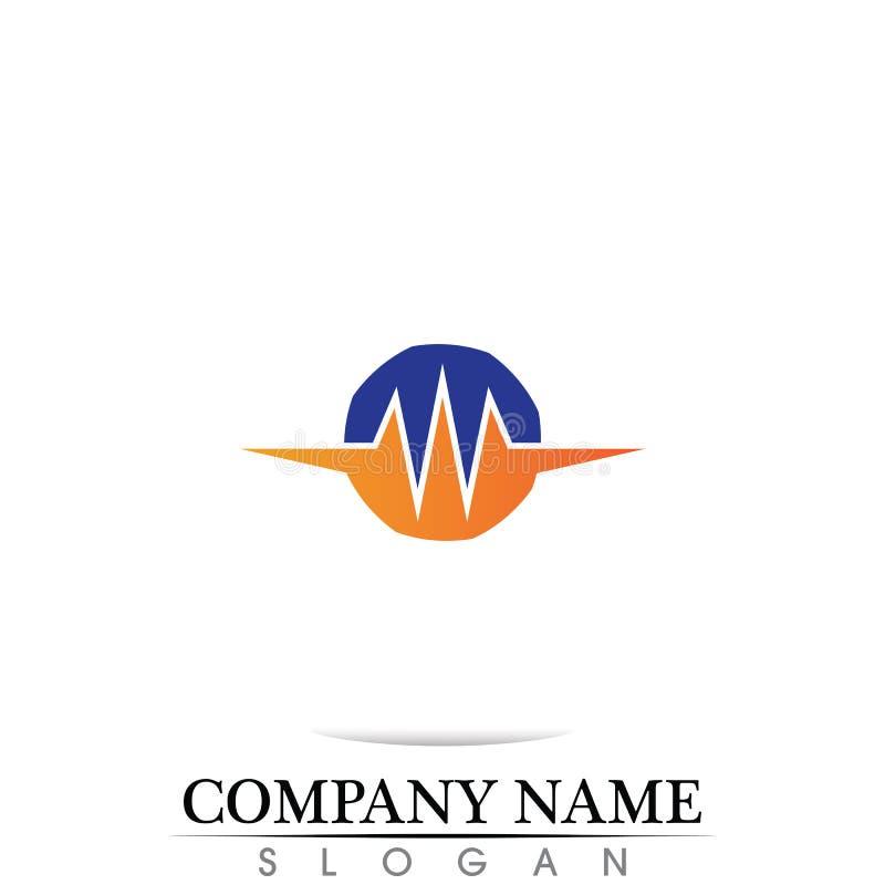 illustration du logo de calibre d'icône de vecteur d'icône d'onde sonore illustration de vecteur