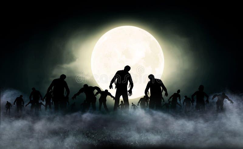 Illustration du monde de zombi illustration libre de droits