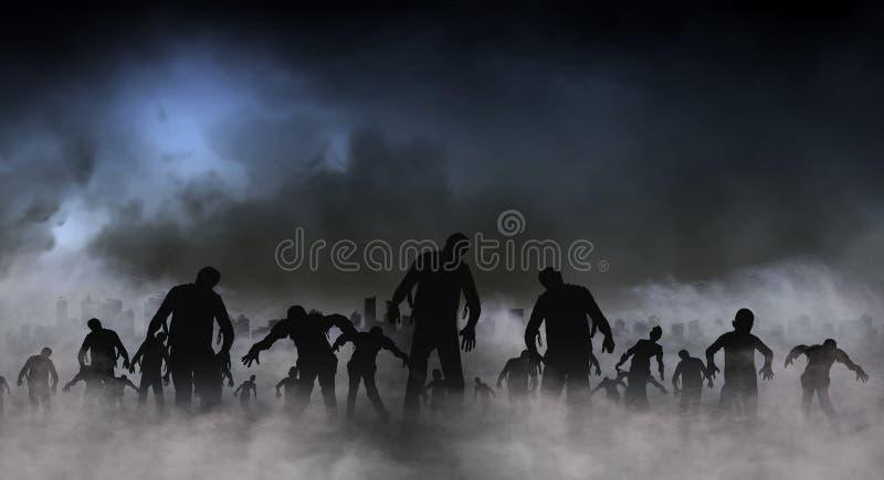 Illustration du monde de zombi illustration de vecteur