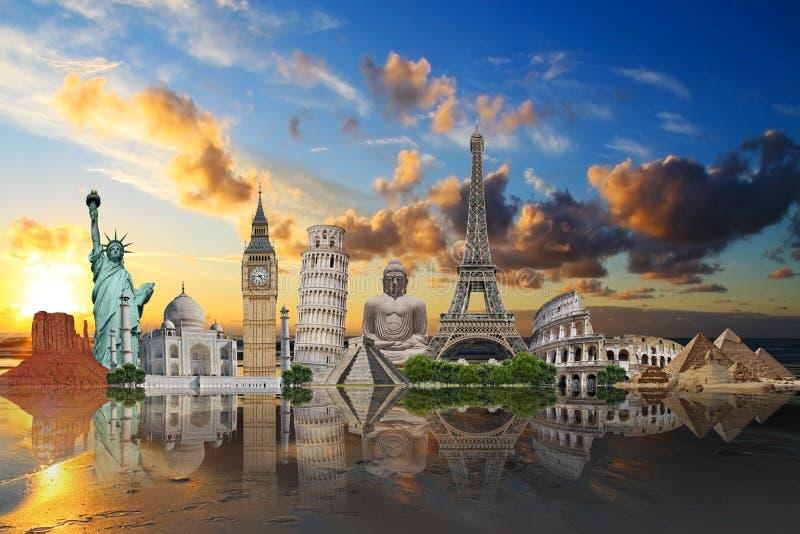 Illustration du monument célèbre du monde illustration de vecteur