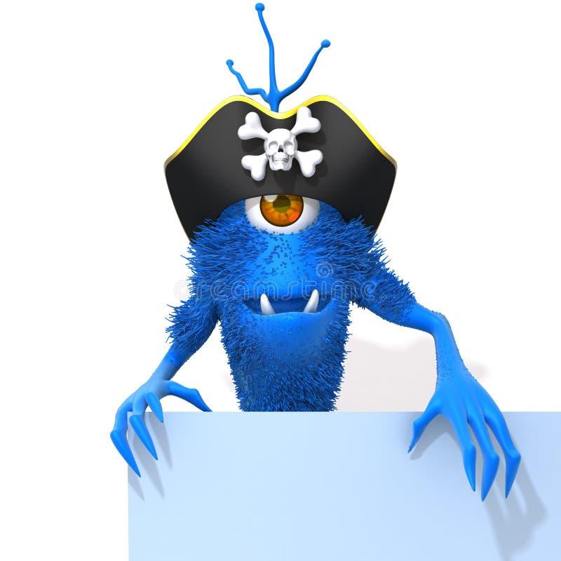 Illustration du pirate 3d de monstre illustration stock